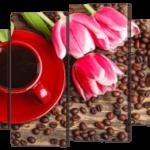 Кофе и тюльпаны