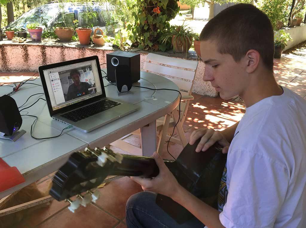 Урок игры на гитаре по Skype