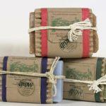 Картон, крафт-бумага и бечёвка в упаковке мыла