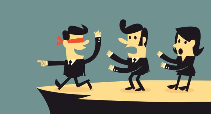 Иллюстрация ведения бизнеса вслепую