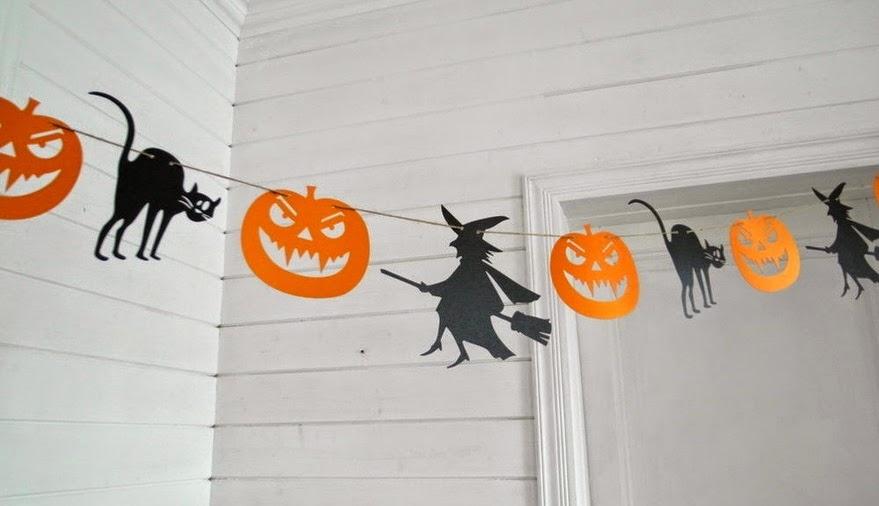 Гирлянда для украшения офиса на Хэллоуин