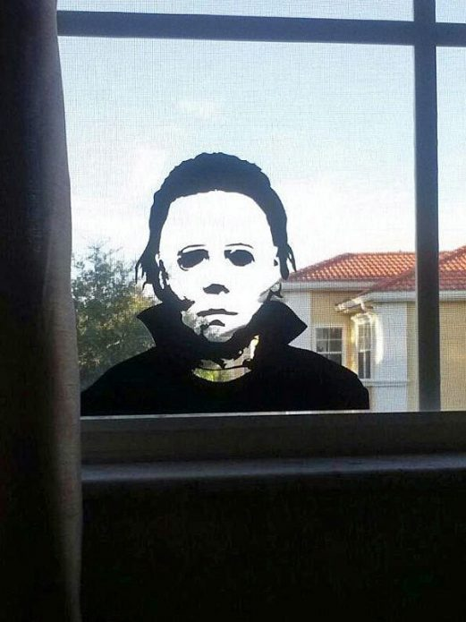 Оформление окна на Хэллоуин