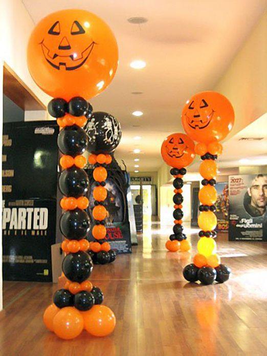 Фото декора из воздушных шаров на Хэллоуин