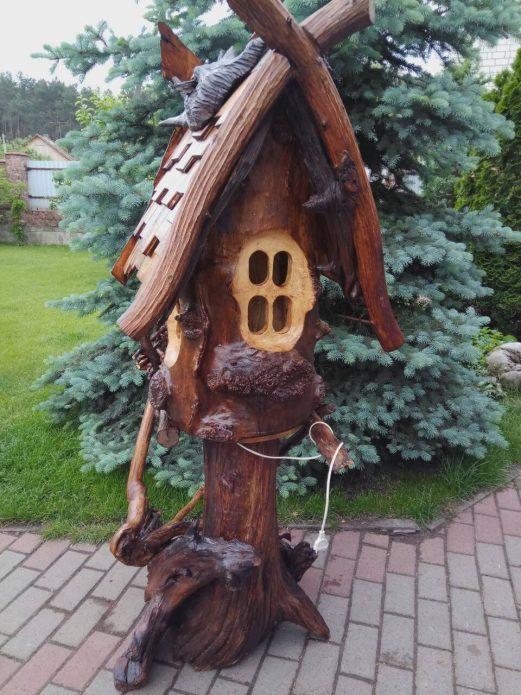 Деревянный домик для сада