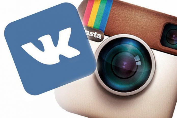 Логотипы ВКонтакте и Инстаграма