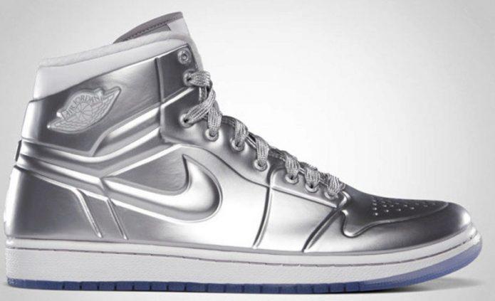 Silver Air Jordan Shoes