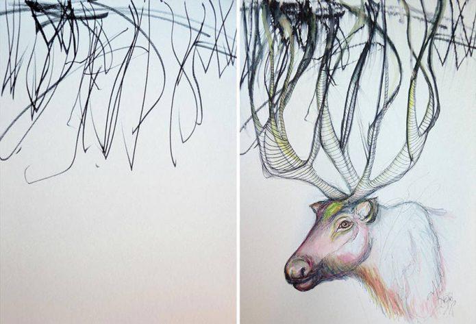 Рисунок оленя