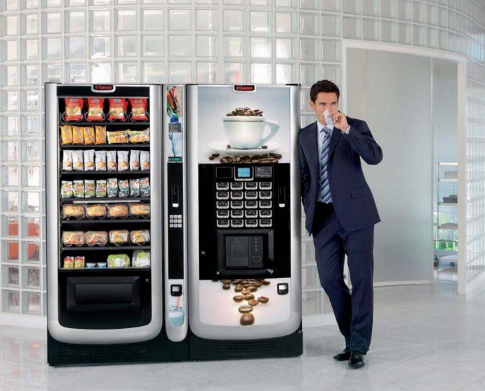 Вендинговые автоматы с кофе и закусками