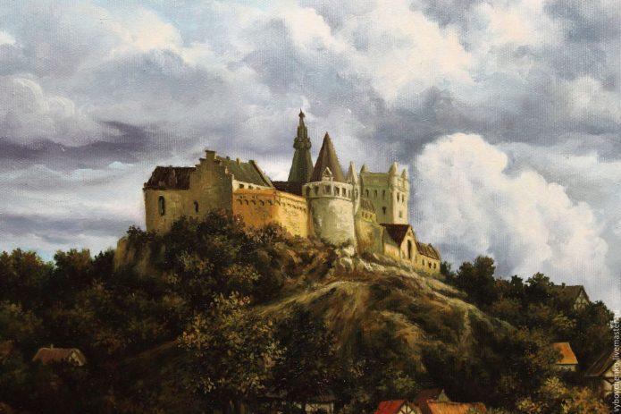 картина с замком