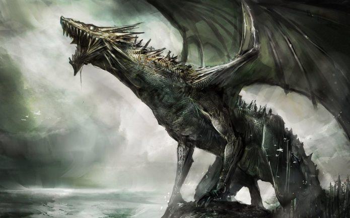картина с драконом