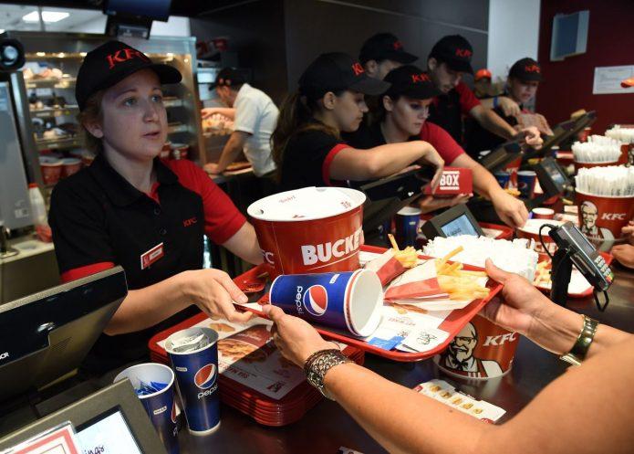 Касса в KFC