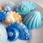 Мыло ручной работы в форме морской раковины