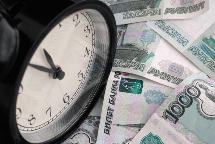 Часы и купюры