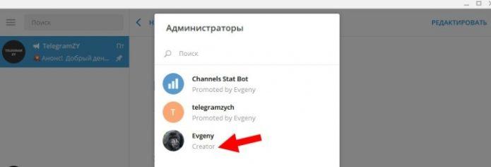 Администрирование канала в телеграмме