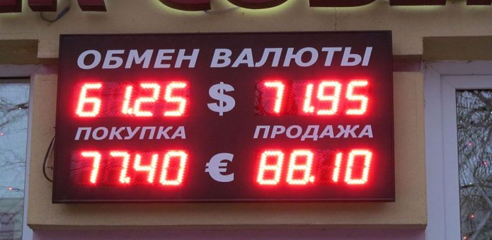 табло обмен валюты