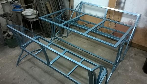 Каркас стола и скамеек