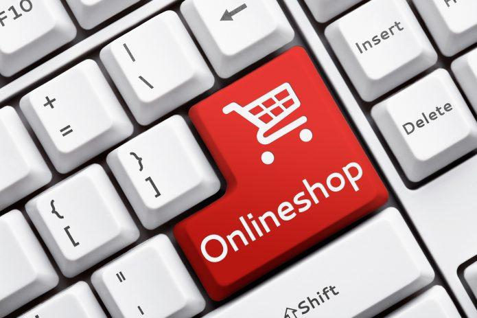Красная кнопка на клавиатуре Onlineshop