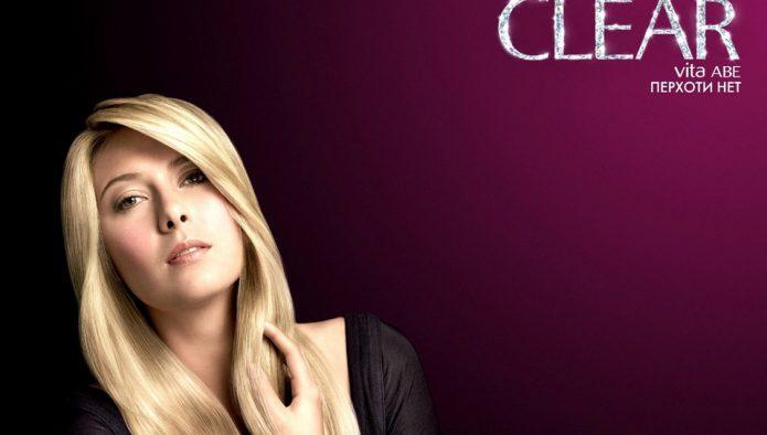 Мария Шарапова в рекламе шампуня
