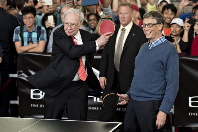 Билл Гейтс с Уорреном Баффетом