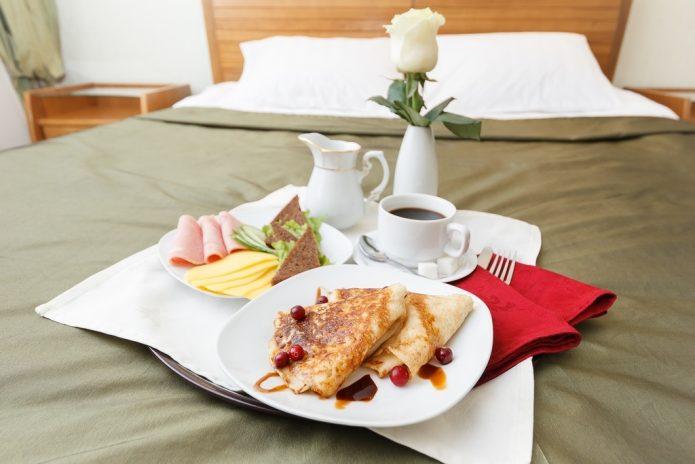Завтрак в гостинице