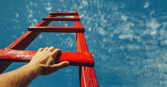 Красная лестница в небо