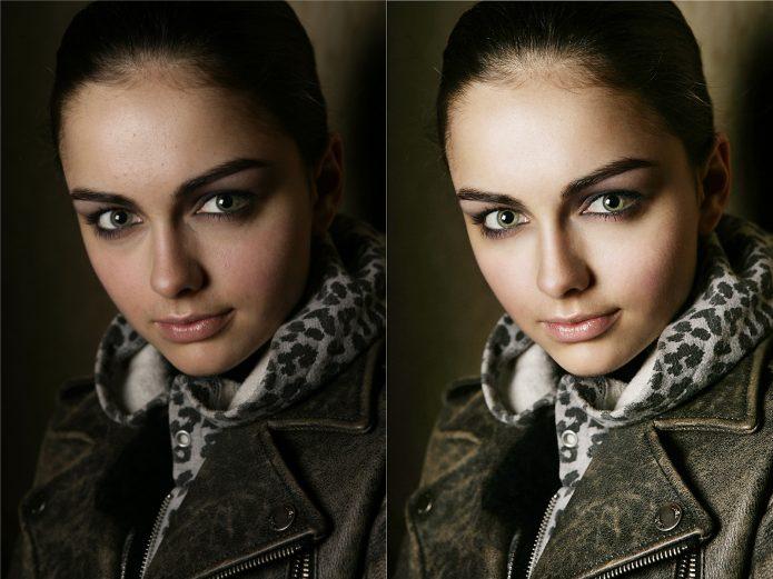 Фото до редактирования в фотошопе и после