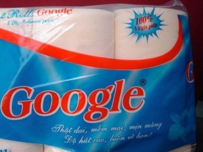 Туалетная бумага «Google»