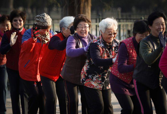 Пенсионеры в Китае